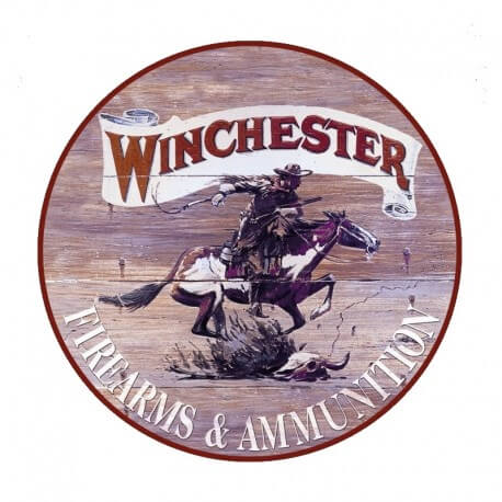 plaque publicitaire ronde winchester us way of life. Black Bedroom Furniture Sets. Home Design Ideas