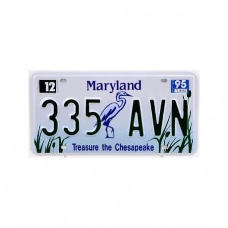 plaque immatriculation maryland treasure the chesapeake us way of life. Black Bedroom Furniture Sets. Home Design Ideas