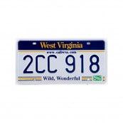 Plaque immatriculation West Virginia