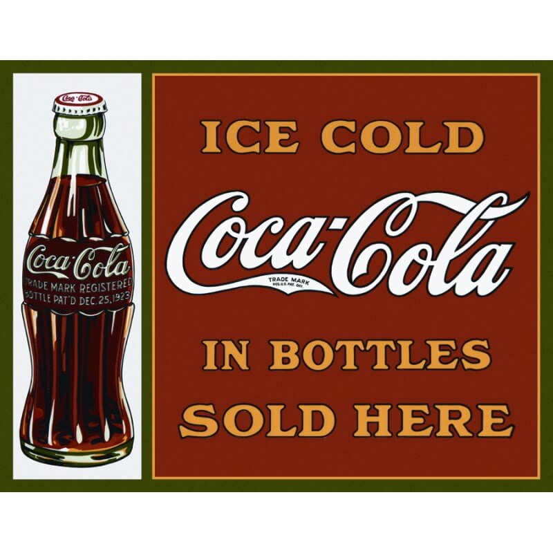 plaque pub m tal coca cola bottles sold here d co. Black Bedroom Furniture Sets. Home Design Ideas