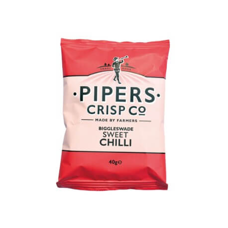 "Chips Anglais PIPERS goût chili : "" Potatoes chips sweet chili """