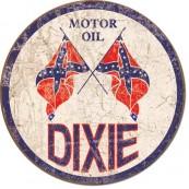 Plaque publicitaire métal ronde Dixie