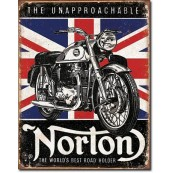 Plaque publicitaire métal Norton the unapprochable