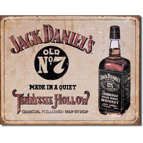 plaque publicitaire jack daniel 39 s tennessee us way of life. Black Bedroom Furniture Sets. Home Design Ideas