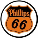 Plaque publicitaire métal ronde phillips 66
