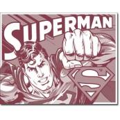 Plaque publicitaire métal Superman vieillie