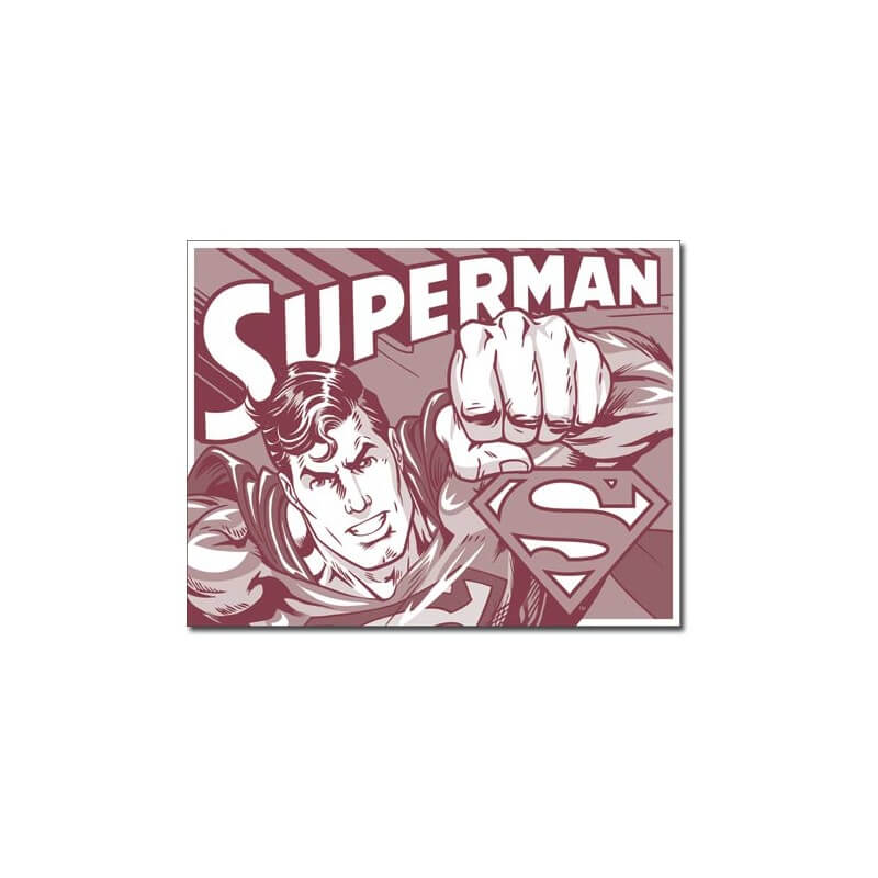 plaque publicitaire superman us way of life. Black Bedroom Furniture Sets. Home Design Ideas
