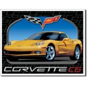 Plaque publicitaire métal corvette C6