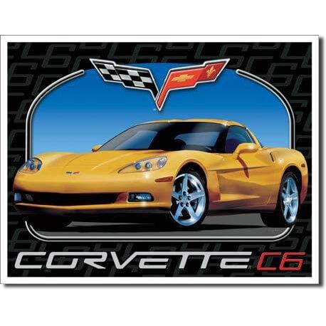 plaque publicitaire corvette c6 us way of life. Black Bedroom Furniture Sets. Home Design Ideas