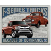 Plaque publicitaire métal Ford pick-up F series