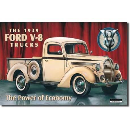 Plaque publicitaire métal Ford pick up 1939