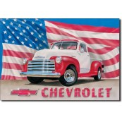 Plaque publicitaire Chevrolet pick up 1951