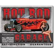 Plaque publicitaire métal Hot Road legend