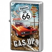 Briquet essence route 66 gas up