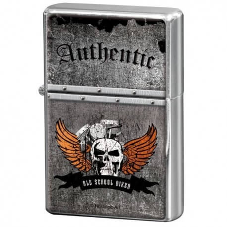 Briquet essence old school biker