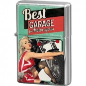 Briquet essence Pin Up Best Garage