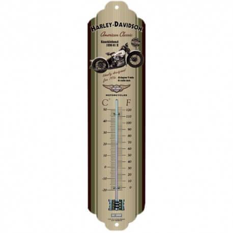 Thermomètre Harley-Davidson Knucklehead american classic