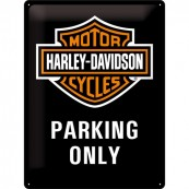 Plaque publicitaire métal Harley-Davidson parking Only