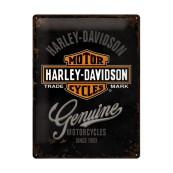 Plaque publicitaire métal Harley-Davidson genuine