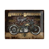 Plaque publicitaire métal Harley-Davidson Y manifold