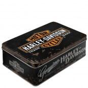 Boite métal Harley-Davidson genuine plate noir