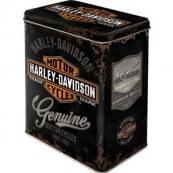 Boite métal Harley-Davidson genuine haute noir