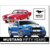 Plaque publicitaire métal Ford Mustang fifty years