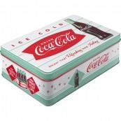 Boite métal coca-cola vintage plate