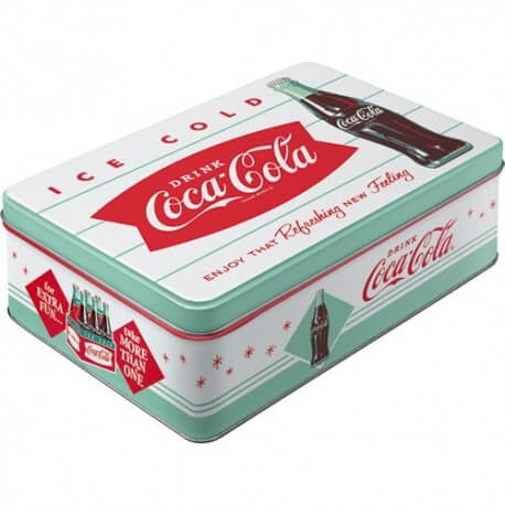 boite m tal coca cola vintage plate us way of life. Black Bedroom Furniture Sets. Home Design Ideas