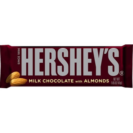 Barre chocolatée Hershey's aux amandes - Hershey's bar milk chocolate with almonds