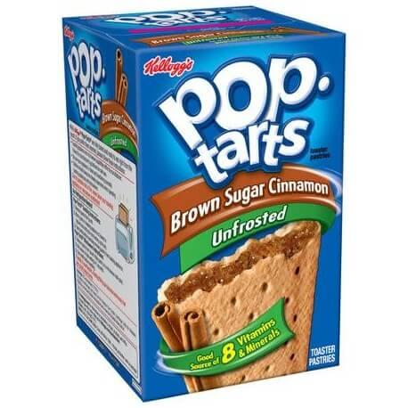Kellogg's pop tarts à la cannelle sans glacage - Unfrosted