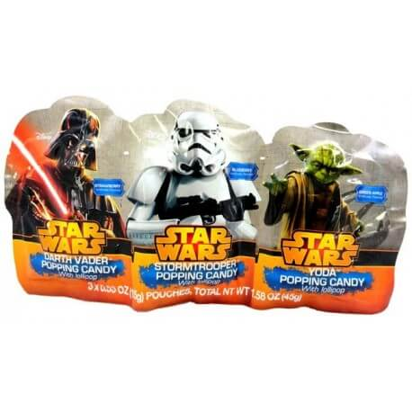 Sucettes star wars popping candy