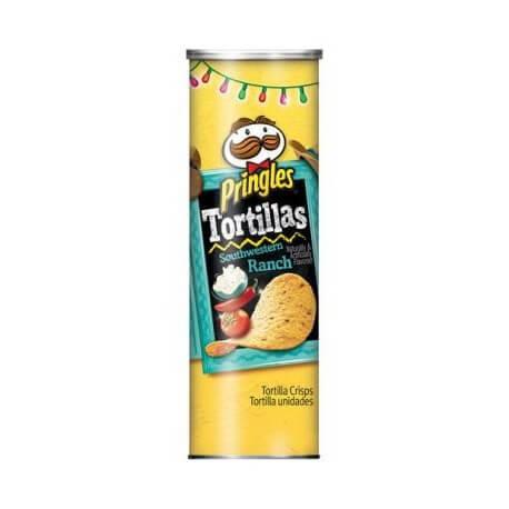 Chips PRINGLES goût Tortillas Southwestern Ranch