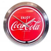 Horloge néon Coca cola
