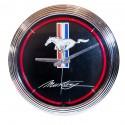 Horloge néon Ford Mustang