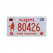 Plaque immatriculation Alabama Firefighter