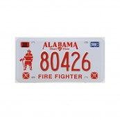 Plaque immatriculation Alabama Firefighter
