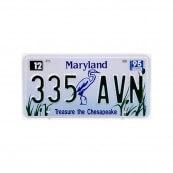 Plaque immatriculation Maryland Treasure the Chesapeake