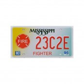 Plaque immatriculation Mississippi Firefighter