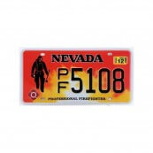 Plaque immatriculation Nevada Firefighter