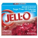 Jello cherry sugar free - gelatine à la cerise sans sucre