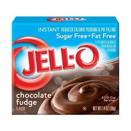 Jello chocolate sugar free - pudding au chocolat sans sucre