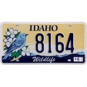 Plaque d'immatriculation Idaho Wildlife