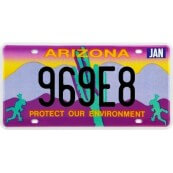 Plaque d'immatriculation Arizona Protect Our Environment