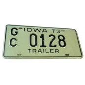 Plaque d'immatriculation Authentique Iowa trailer