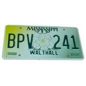 Plaque d'immatriculation Authentique Mississippi BPV241