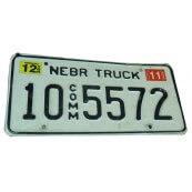 Plaque d'immatriculation Américaine collection Etat du Nebraska