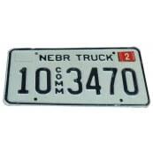 Plaque d'immatriculation Américaine vintage Etat du Nebraska