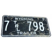 Plaque d'immatriculation Américaine collection Wyoming
