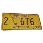 Plaque d'immatriculation Américaine Authentique Etat du Wyoming